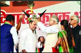कांग्रेस अध्यक्ष राहुल गांधी बोले- मोदी ने चोरों का, हमने किसानों का कर्जा माफ किया