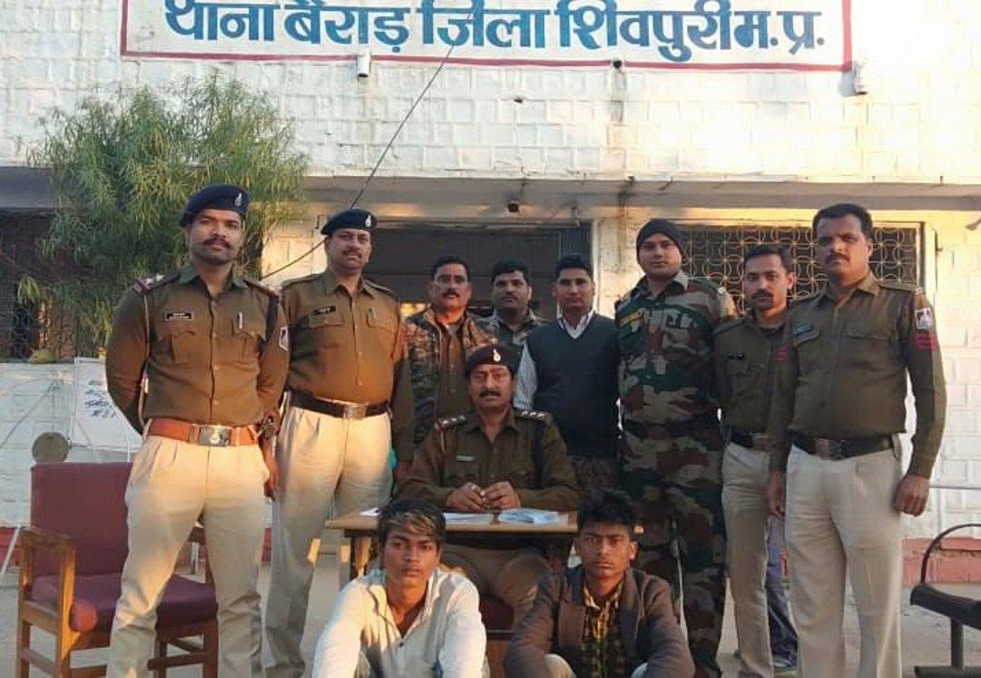 बैंगलोर में हत्या करने वाले शिवपुरी पुलिस ने दबोचे