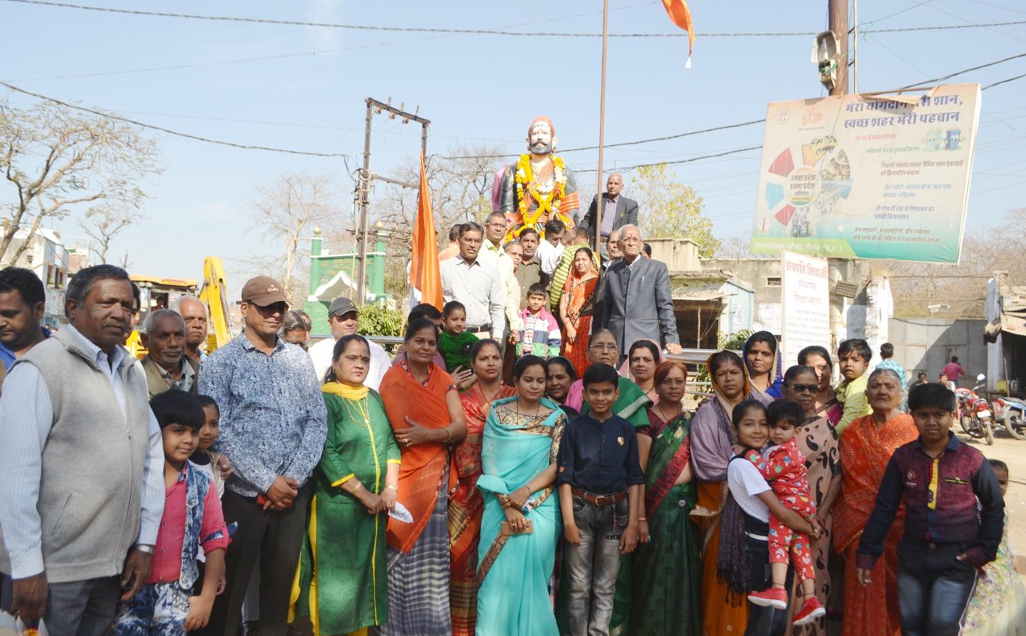 क्षत्रिय मराठा समाज ने मनाई छत्रपति शिवाजी की 389 जयंती