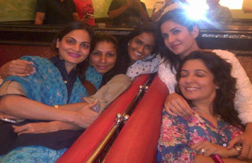 Katrina Kaif with salman khan sisters