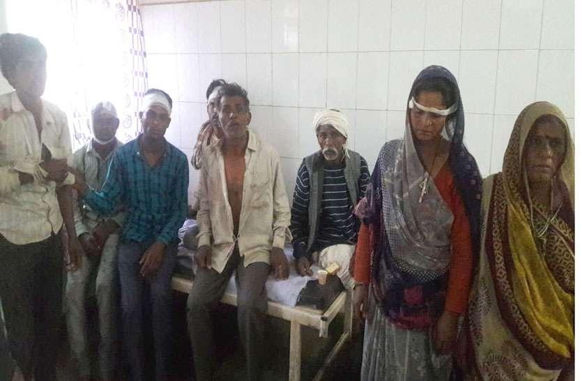 रास्ते के विवाद में दो गुटों में जमकर मारपीट, 18 लोग घायल
