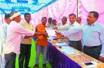 विस्थापित किसानों के लिए समर्थन मूल्य पर उपज बेचने मिली यह सुविधा