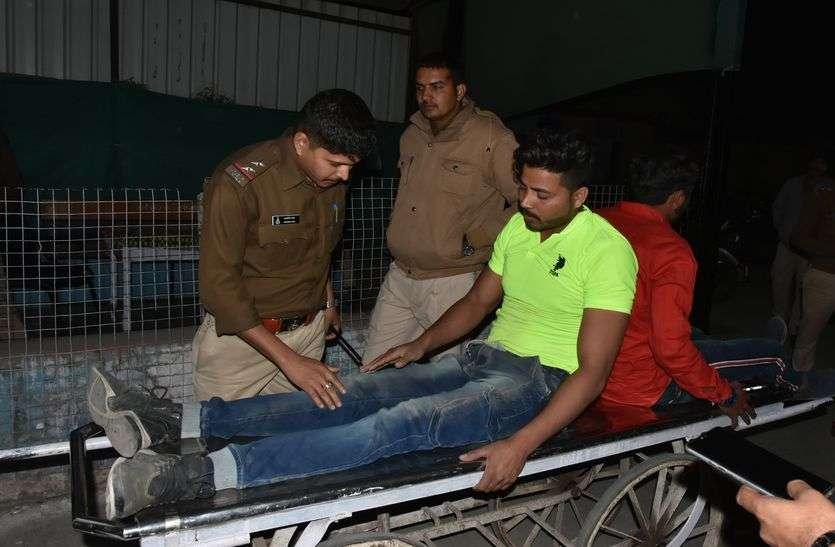 MP POLICE NEWS: चीता के जवानों ने युवक को पीटा तो परिजनों ने घेरा थाना