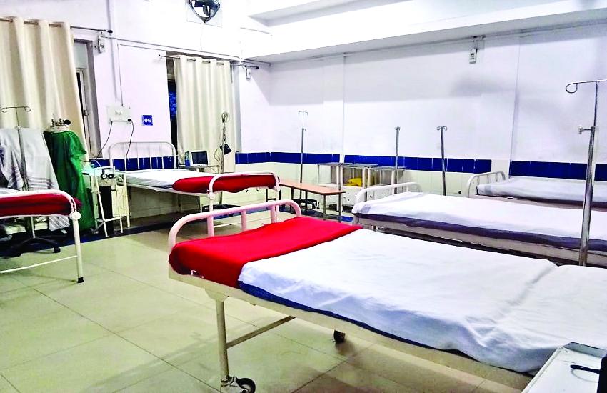 जेपी अस्पताल में मरीजों के लिए वेंटिलेटर नहीं तो हमीदिया में है दो बिस्तरों का वार्ड
