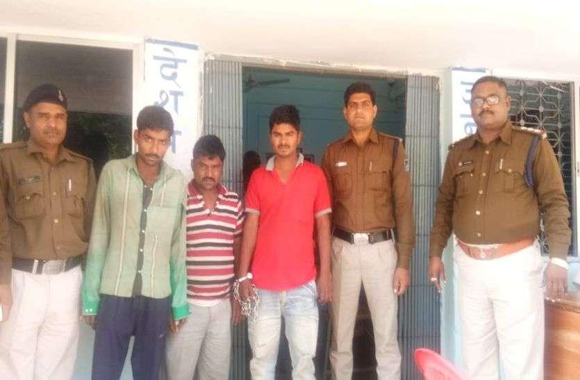 - अफीम के खेत से कच्चे डोड़े काटकर चुराने में तीन चोर गिरफ्तार