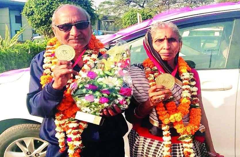 जज्बे को सलाम, 89 वर्ष के दादा और 84 वर्ष की दादी ने जीता मास्टर एथलेटिक्स में छत्तीसगढ़ के लिए गोल्ड