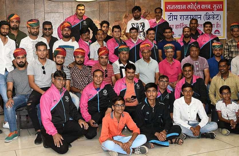 राजस्थान क्रिकेट टीम का परवत पाटिया में स्वागत