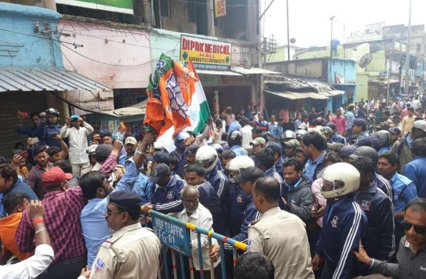 भाजपा की बाईक रैली को लेकर बंगाल में बवाल