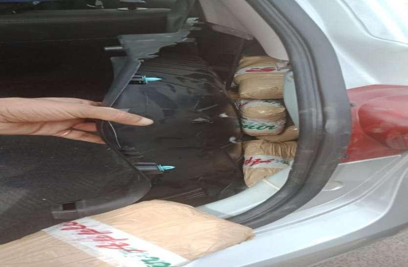शामळाजी में कार से 12 किलो चरस बरामद, दो गिरफ्तार