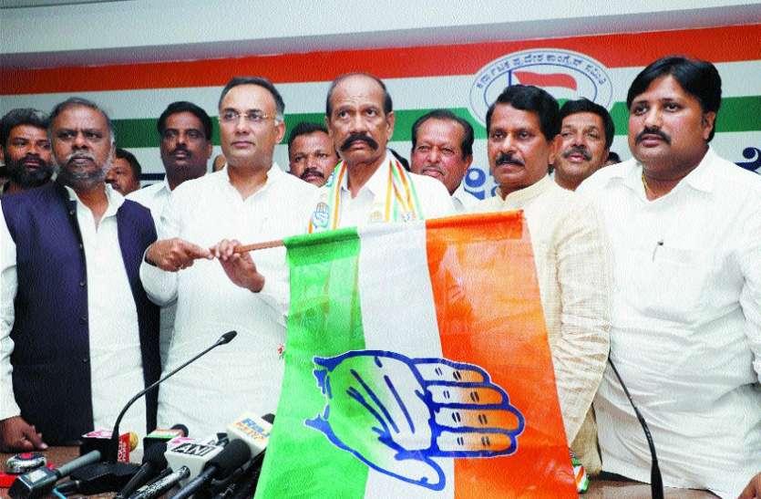 तिप्पेस्वामी भाजपा छोड़ कांग्रेस में शामिल