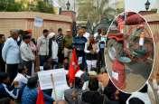 सीकर किसान आंदोलन: विधायक के घर प्याज व कोल्ड ड्रिंक लेकर पहुंचे सैकड़ों किसान, इस अनूठे अंदाज में बताई अपनी पीड़ा