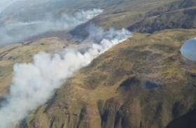 माउंट केन्या नेशनल पार्क में लगी भयंकर आग, देखें तस्वीरें