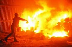 किसान के खेत में लगी आग से जल गया खड़ा गेहूं