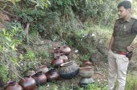 जिले में लंबे समय से सुलग रही देसी शराब बनाने की भट्टी