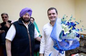 पंजाब के मोगा में रैली को संबोधित करते हुए राहुल गांधी ने दी रफाल सौदा मुद्दे पर मोदी को बहस करने की चुनौती