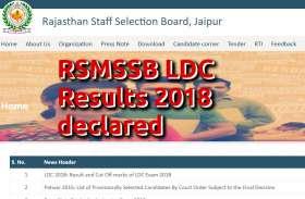 RSMSSB LDC Result 2018 घोषित, इस वेबसाइट पर ऐसे करें चैक