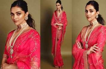 Akash Ambani Wedding: लाल साड़ी..गले में मोतियों की माला पहन, शाही अंदाज में नजर आईं दीपिका पादुकोण
