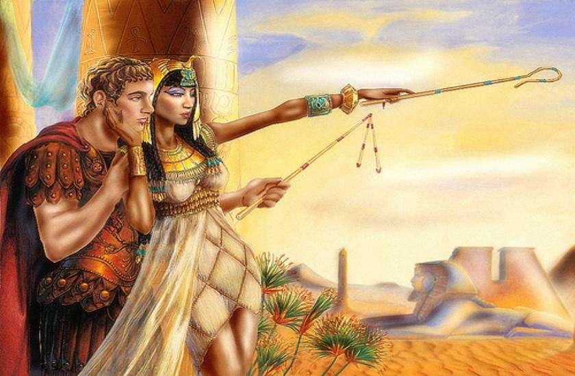 Queen Cleopatra with Julius