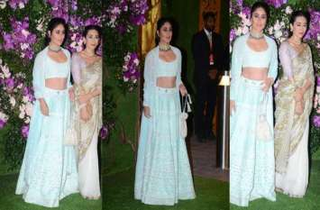 Akash-Shloka Wedding: शाही शादी में ग्लैमर का तड़का लगाती नजर आईं बॅालीवुड की ये फेमस सिसटर्स