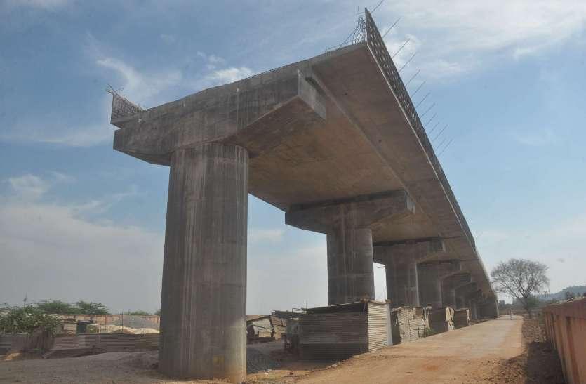 मल्लगडा रेलवे काॅग्रसिंग पर बनता आरओबी