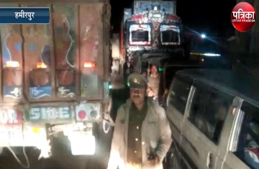 आरटीओ की कार्रवाई से परेशान ट्रक चालकों ने नेशनल हाईवे किया जाम, देखें वीडियो