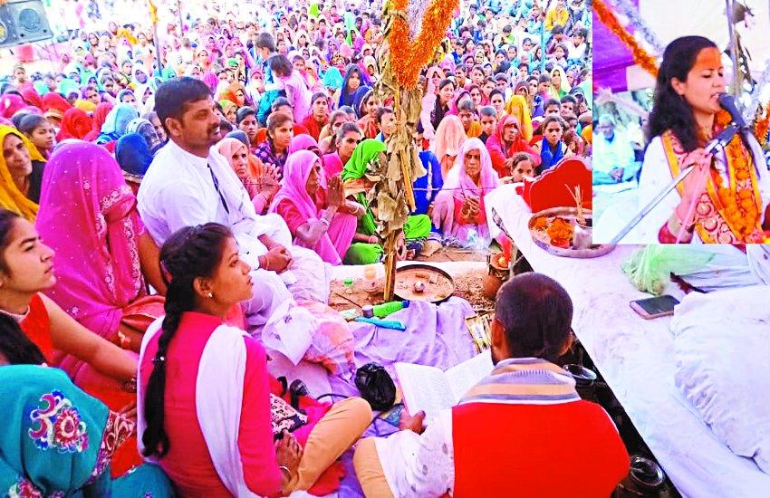 सिद्ध बाबा मंदिर में चल रही भागवत कथा में उमड़ रहे श्रद्धालु धार्मिक आयोजन