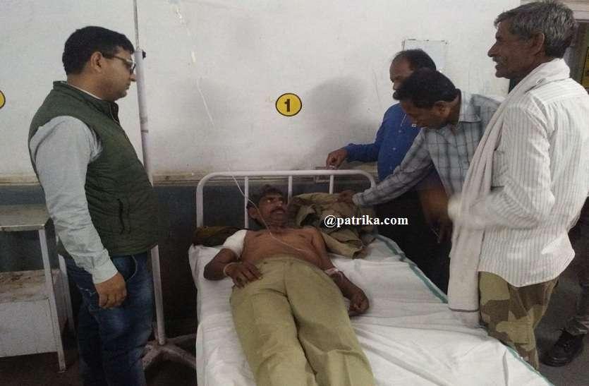 VIDEO : होम गार्ड पर भालू ने किया हमला, फलौदी रेंज गाजीपुर चौकी के पास की घटना