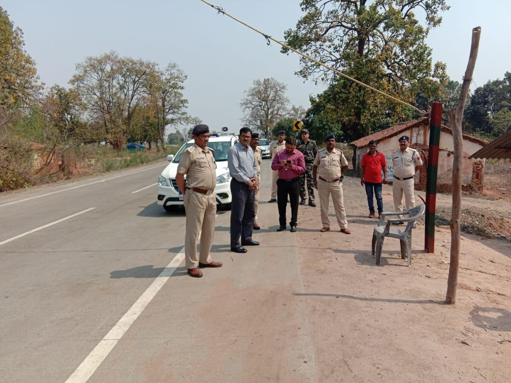 सुरक्षाओं के मुआयने में आईजी पहुंचे मप्र. के अंतिम छोर, सीमाओं पर चेकपोस्टों का किया निरीक्षण