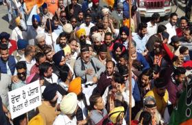 पंजाब: कांग्रेस सरकार के 2 वर्ष पूरे होने पर भाजपा-अकाली नेताओं ने निकाला विश्वासघात मार्च