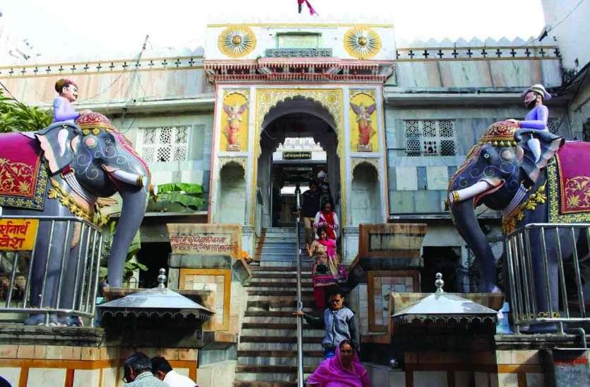 चारभुजा मंदिर की सुरक्षा दस वर्ष से मात्र दो सिपाहियों के भरोसे