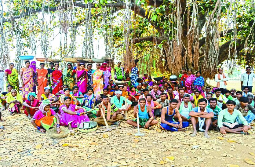 ग्रामीणों ने किया मनरेगा कार्य का बहिष्कार,  नाराज मजदूरों ने जमकर की नारेबाजी