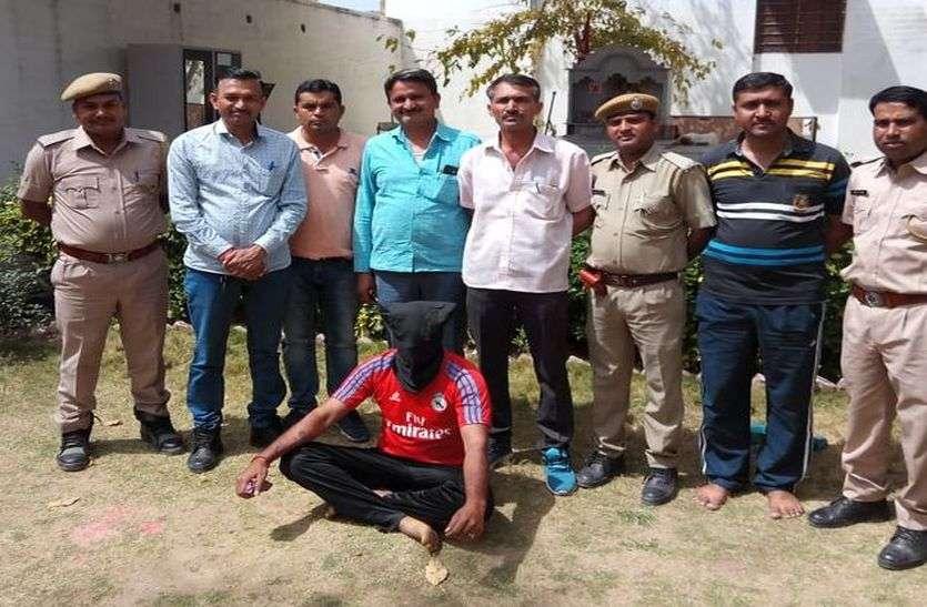 कुख्यात हिस्ट्रीशीटर चढ़ा पुलिस के हत्थे, अहमदाबाद में चला रहा था ड्रग्स रैकेट