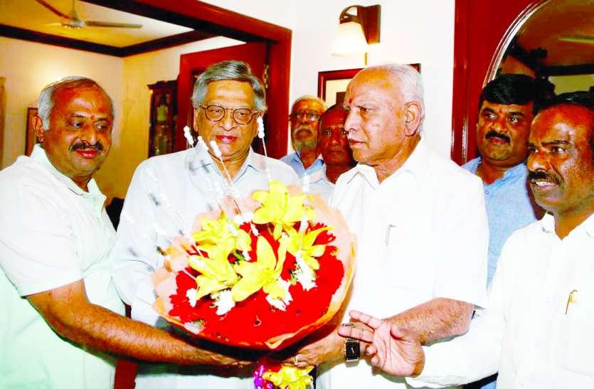 भाजपा ने उम्मीदवारों के बारे में कृष्णा से की चर्चा