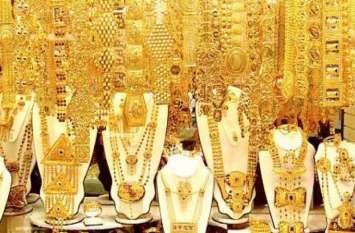 दो माह के निचले स्तर पर सोना, चांदी 285 रुपए प्रति किलोग्राम हुर्इ सस्ती