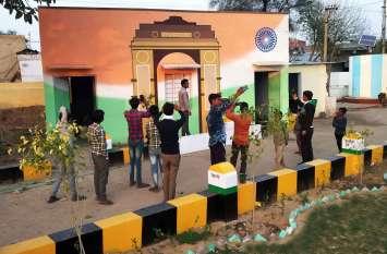 अलवर में रेलवे स्टेशन, एयरोप्लेन के बाद एक और सरकारी स्कूल में घुले अनूठे रंग, तस्वीरें देखकर आप भी सुदंरता को निहारते जाएंगे