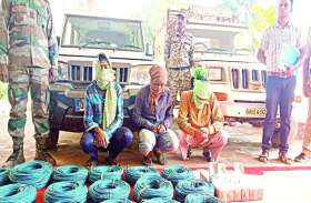 लोकसभा चुनाव के दौरान बड़ी घटना को अंजाम देने की फिराक में थे नक्सली, 5900 डेटोनेटर के साथ 4 गिरफ्तार