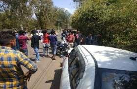 एसपी बंगला की दीवार से भिड़ी कार, बाल-बाल बचे दो छात्र