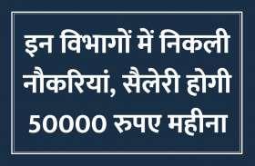 RRB सहित इन विभागों में निकली नौकरियां, सैलेरी होगी 50000 रुपए महीना