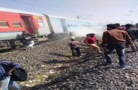 इंदौर- जोधपूर एक्सप्रेस ट्रेन की एक बोगी के ब्रेक जाम होने से आग की लपटो के साथ निकला धुआं, मुसाफिरों में हड़कंप