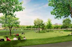 ग्रीन पार्क के निर्माण को लेकर मांगा आधार