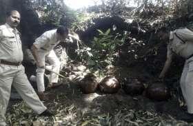 दस हजार किलोग्राम महुआ लहान नष्ट किया