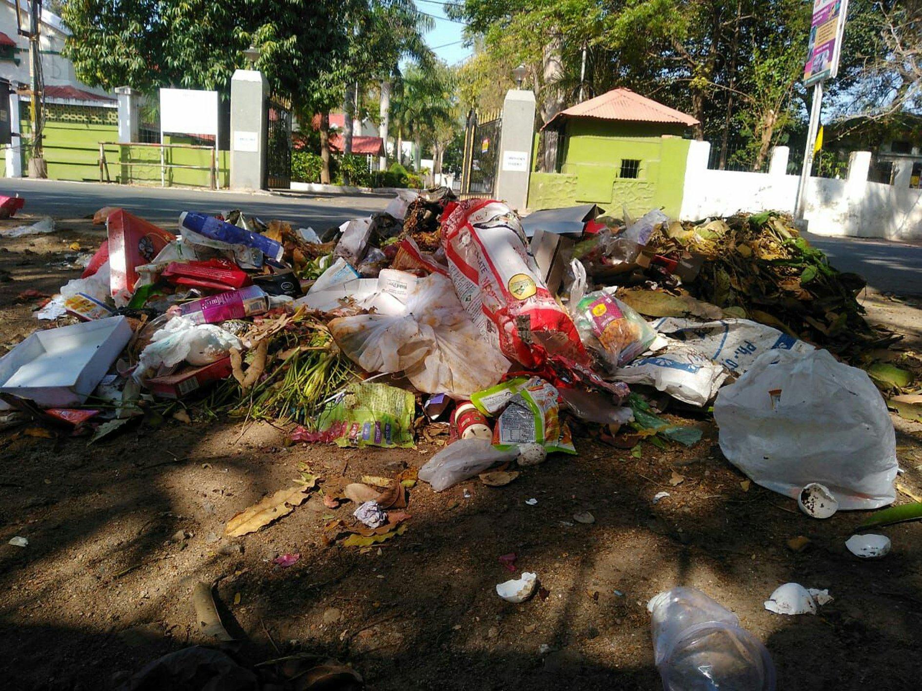 दावा करते हैं शीशे जैसा साफ है शहर, लेकिन जहां देखो वहां कचरा ही कचरा