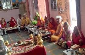 वार्षिक वैद्विक प्रतिष्ठा महोत्सव  के दौरान जिनेन्द्र भगवान का मस्तकाभिषेक
