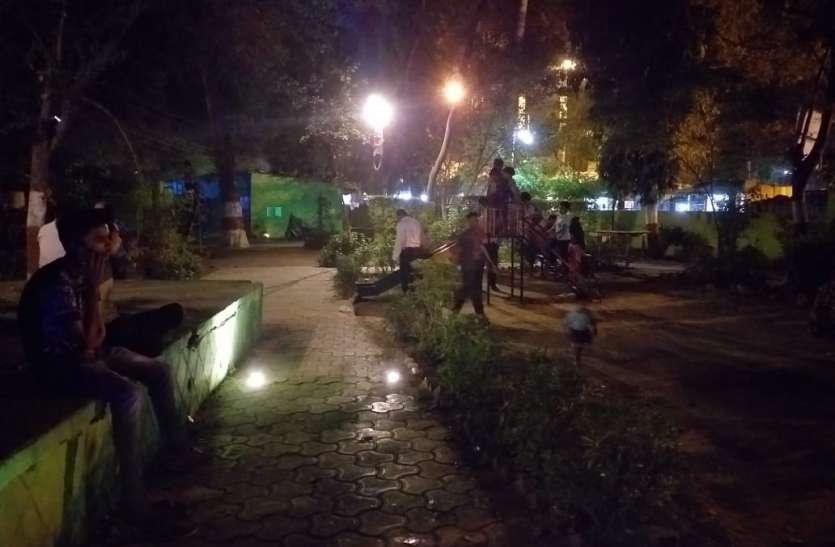 पार्क में नहीं चल रहा फव्वारा सुरक्षा का भी अभाव