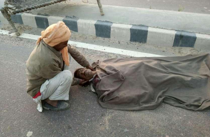 डबलीराठान में कार ने टक्कर मार तोड़ दी खेत मजदूर के बुढ़ापे की लाठी