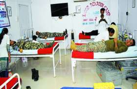 सुकमा: माओवादी मोर्चे पर तैनात अधिकारियों व 67 जवानों ने किया रक्तदान