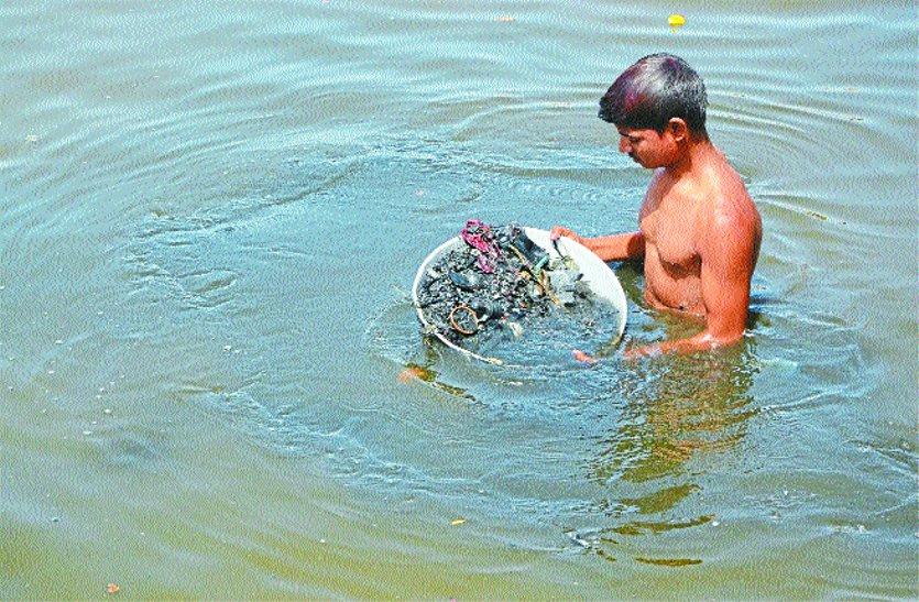 शिप्रा फिर मैली: पानी हिलाते ही हो जाता है काला