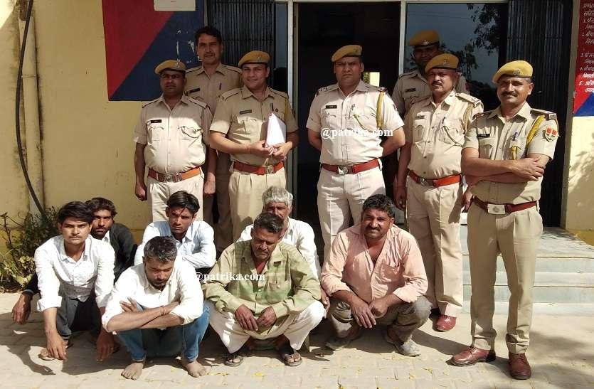 VIDEO : राजस्थान पत्रिका की खबर का असर, बजरी माफियाओ पर पुलिस की शख्त कार्रवाई