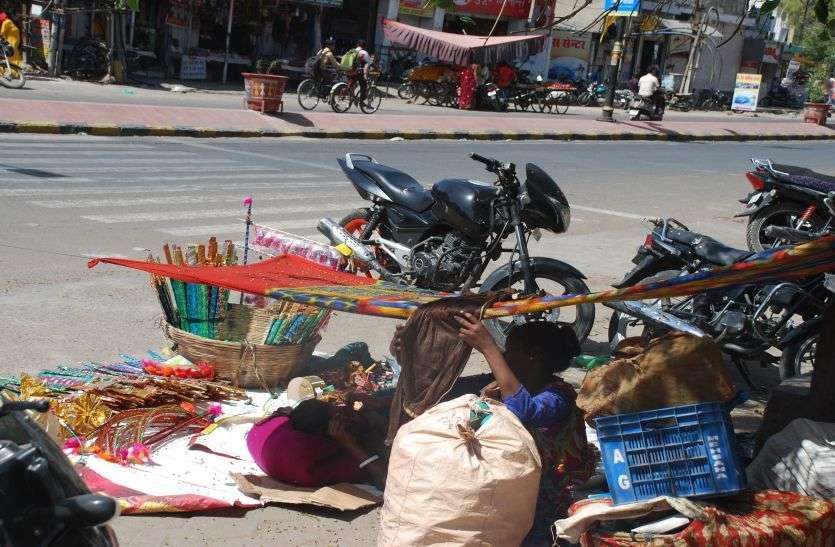 पाली 38 डिग्री - 171  दिन बाद सबसे गर्म दिन, दोपहर में सडक़ों पर सन्नाटा