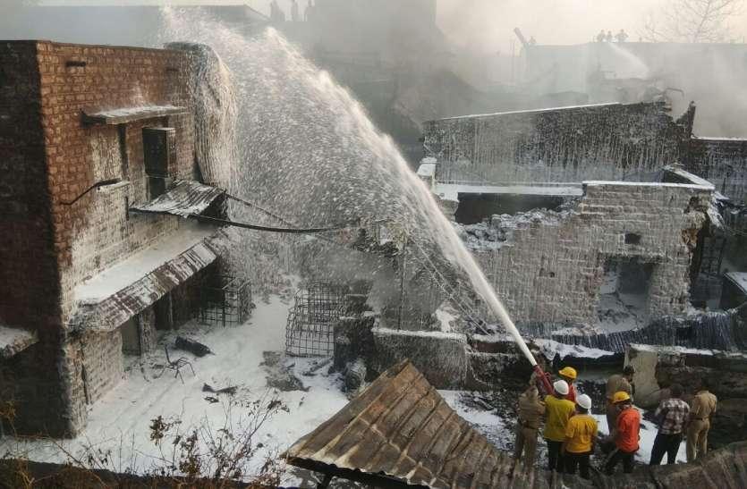 वायुसेना व सेना की दमकलों ने साढ़े तीन घंटे बाद भीषण आग पर पाया काबू